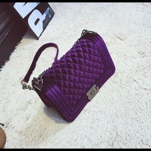 Handbags - NWT Beautiful deep purple quilted cross body purse